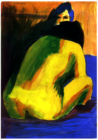 Seated Nude from life